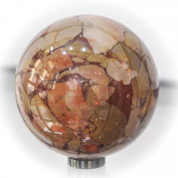 Buntkalk, Kieselkalk Kugel Steinkugel aus Österreich