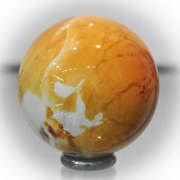 Mookait Kugel gelb 5,8 cm