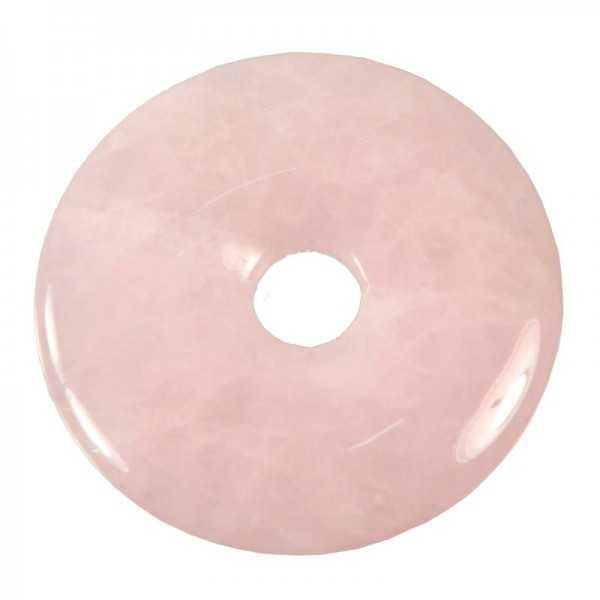 Rosenquarz-Donut 30