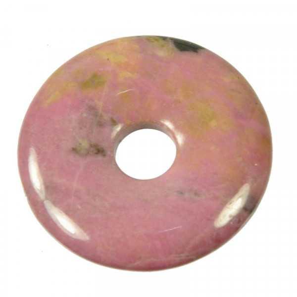 Rhodonit Donut Anhänger 3 cm
