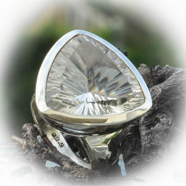 Bergkristall Ring Silber Gr. 58