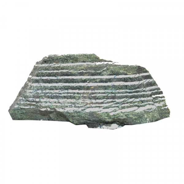 Silberauge Serpentin Chrysotil rohstein
