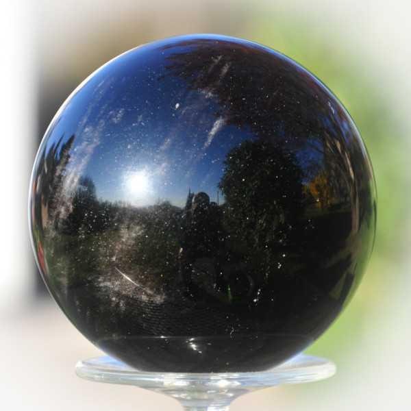 Obsidian schwarz Kugel 9cm