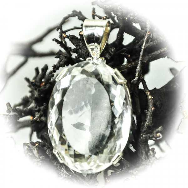 Bergkristall Schmuck Anhänger in Silber