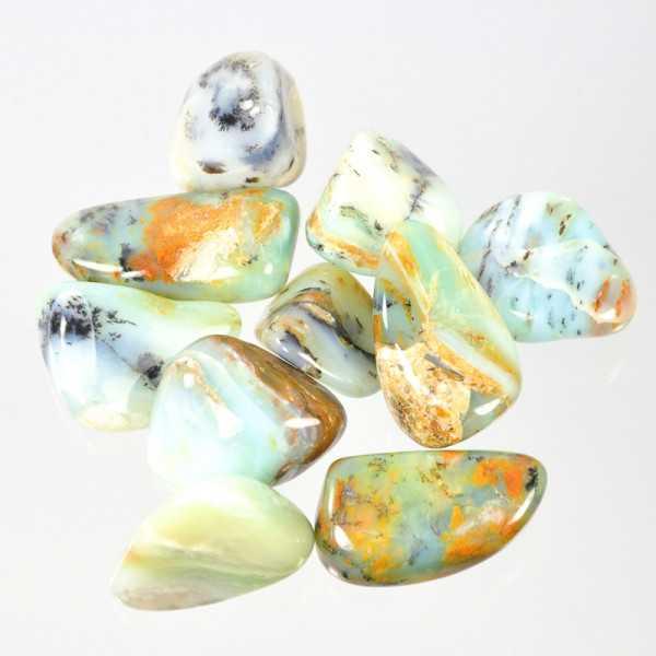 Anden Opal blau Trommelstein