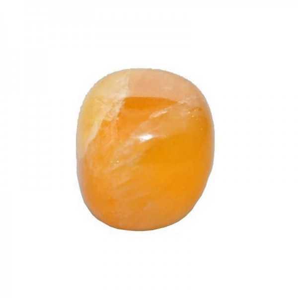 Orangen-Calcit-trommelstein