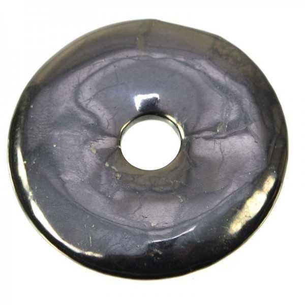 Schungit Donut Anhänger 4 cm