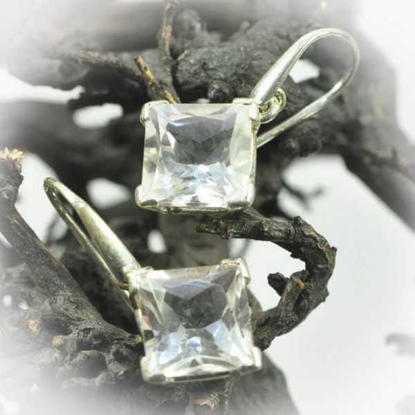 Bergkristall Ohrringe in Silber