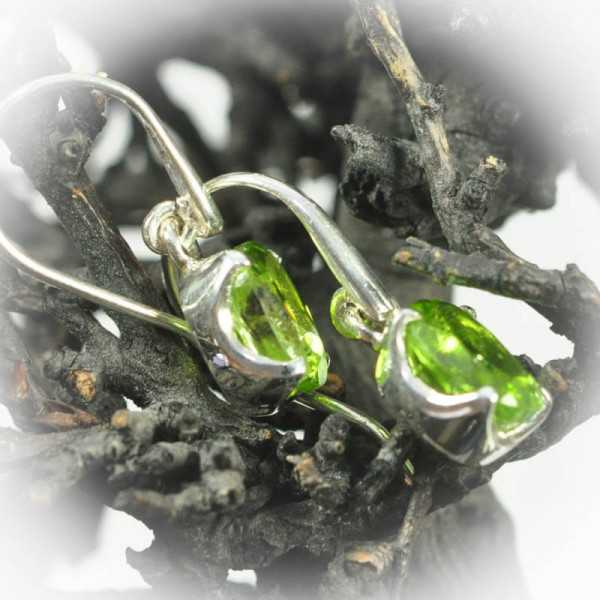 peridot ohrringe in silber