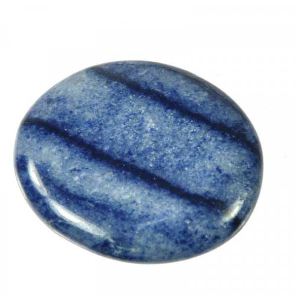 Scheibenstein aus Blauquarz fürs Hals-Chakra