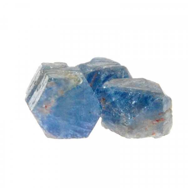 Saphir Kristall 3 Stück im Lot