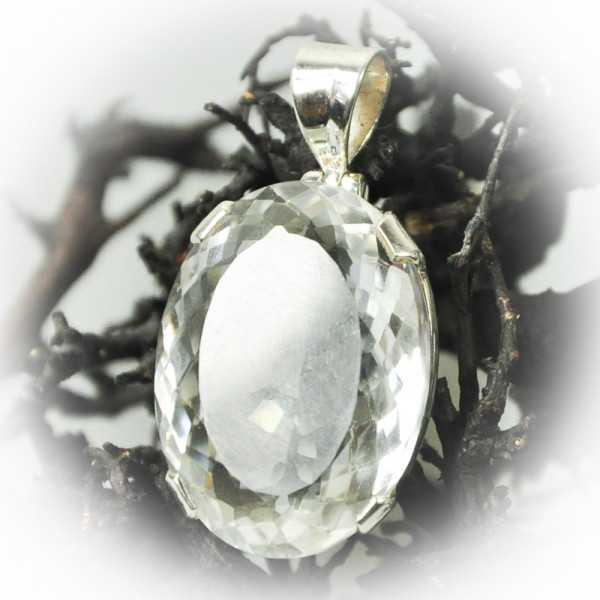 Bergkristall kristallklarer Schmuckanhänger