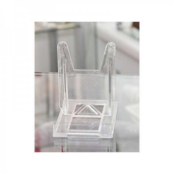 Schiebeständer aus transparentem Kunststoff