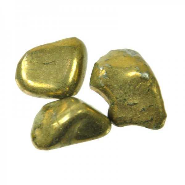 Chalkopyrit Trommelstein
