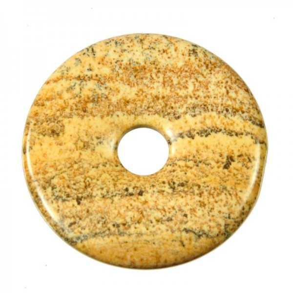 Edelstein Donut Landschaftsjaspis